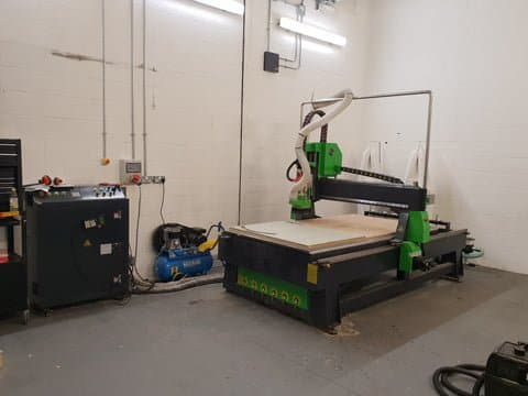 A9 CNC Router with 8 station automatic tool changer and vacuum pump