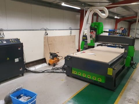 A9 CNC Router with 8 station automatic tool changer installed near Heathrow Aiport