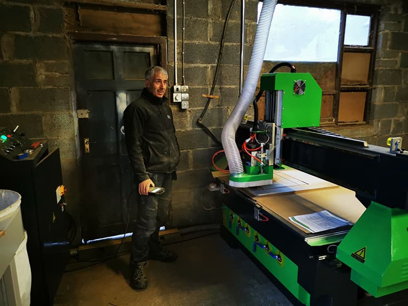 SINGLE PHASE CNC ROUTER INSTALLATION IN IRELAND