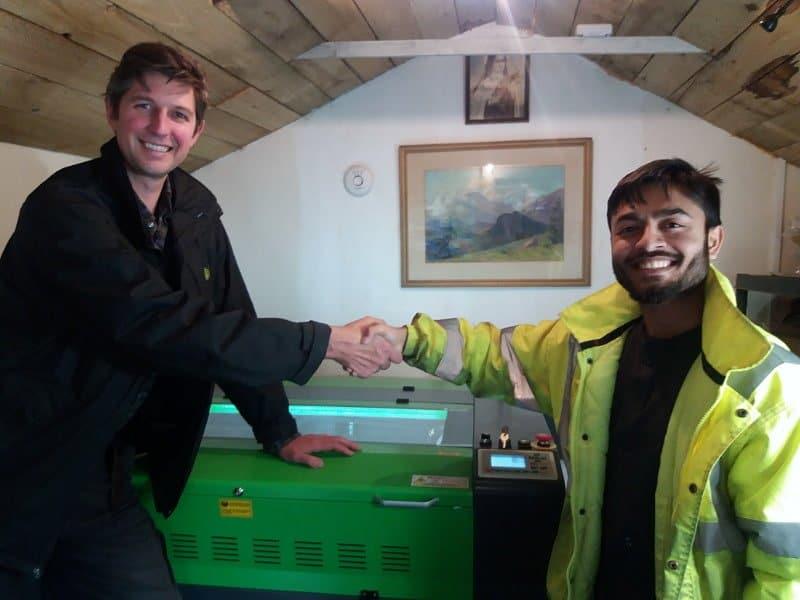 CO2 Laser Machine In St. Andrews Scotland