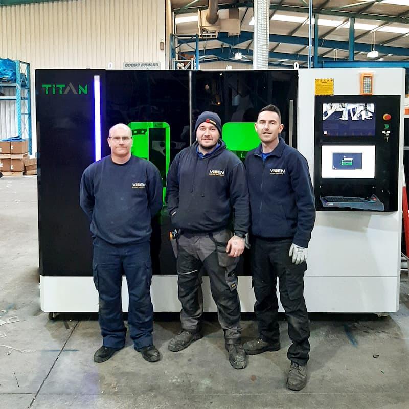 New Fibre Laser Cutter Installation In Middlesbrough UK