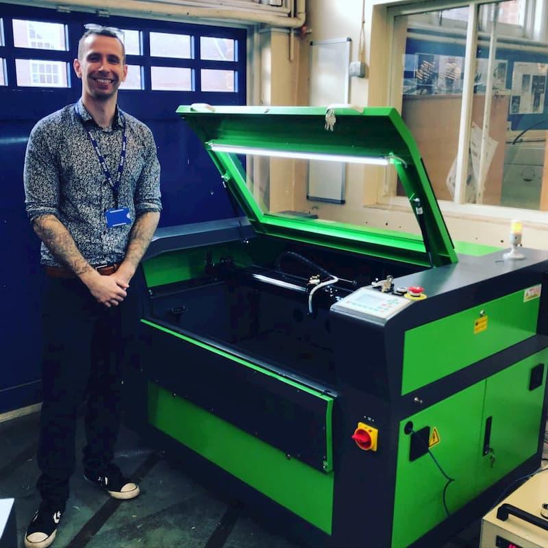 New Laser Machine Install - College.