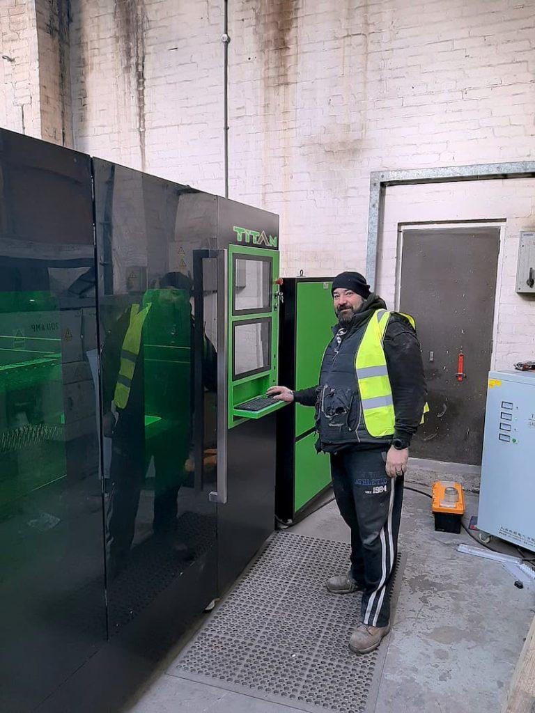 New Fibre Laser Cutter Installation In Staffordshire